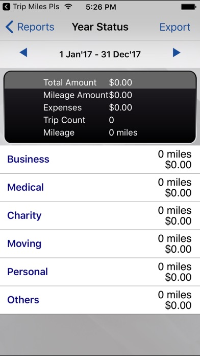 Screenshot for Trip Miles (IRS Mileage log) in United States App Store