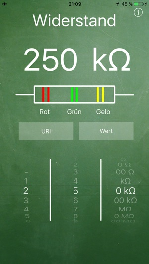 App store widerstand for Widerstand tabelle ohm