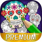 Mexican Sugar Skull Mask & Coloring Pages – Pro icon