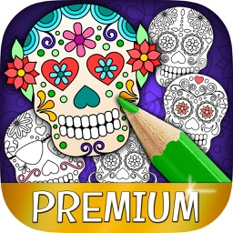 Mexican Sugar Skull Mask & Coloring Pages – Pro