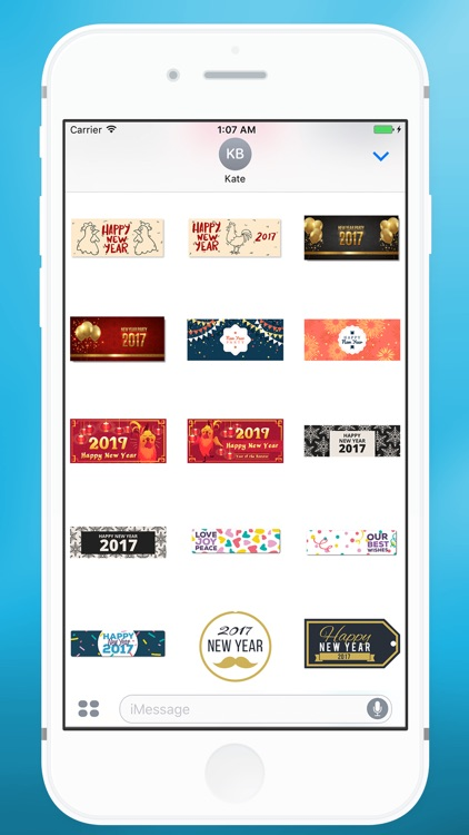 Happy New Year Message Sticker for iMessage