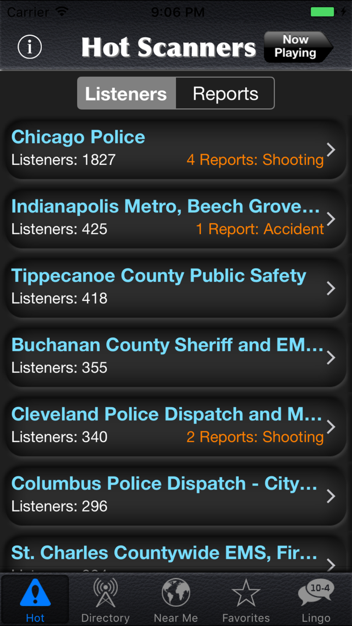Police Radio Screenshot
