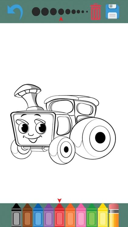 Cars , Coloring book for kids screenshot-3