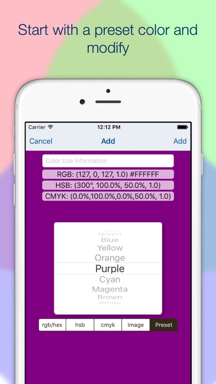 Mobile Color Palettes screenshot-3