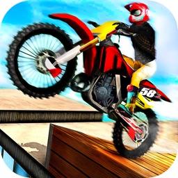 Rooftop Motorbike Rider - Furious Stunts Driving