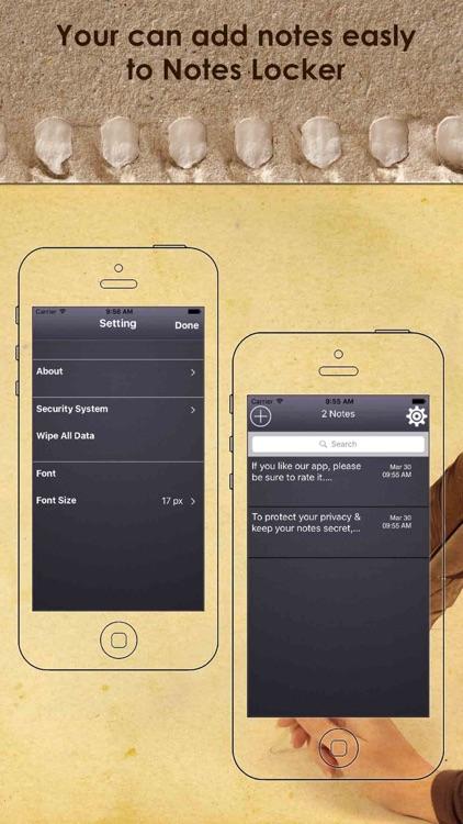 Notes Locker - Keep Your Data Password Protected screenshot-3