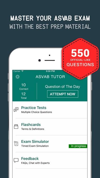 ASVAB Practice Exam Prep 2017 - Q&A Flashcards