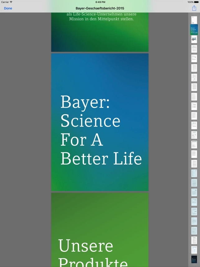 Bayer Integrated Reports on the App Store