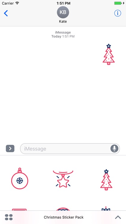 Christmas Sticker Red Pack for Messaging