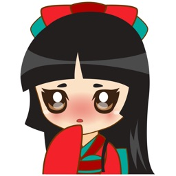 Izumi, the japanese princess for iMessage Sticker