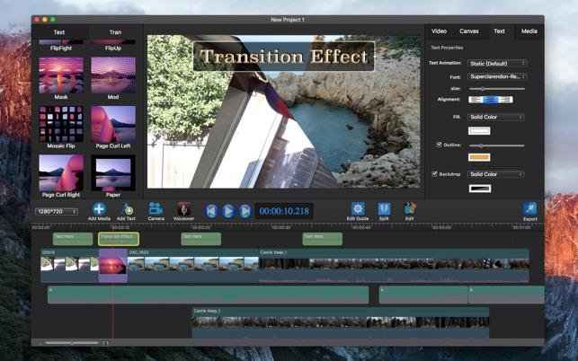 Movie maker split clip