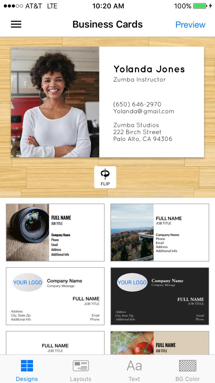Business Card Maker & Logo App Screenshot