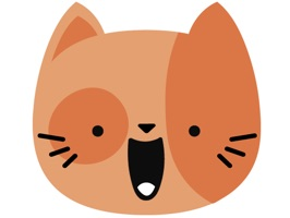 Let your friends know how you are feeling in a way they will never forget with Orange Kitty Cat Face Emojis Sticker Pack for iMessage
