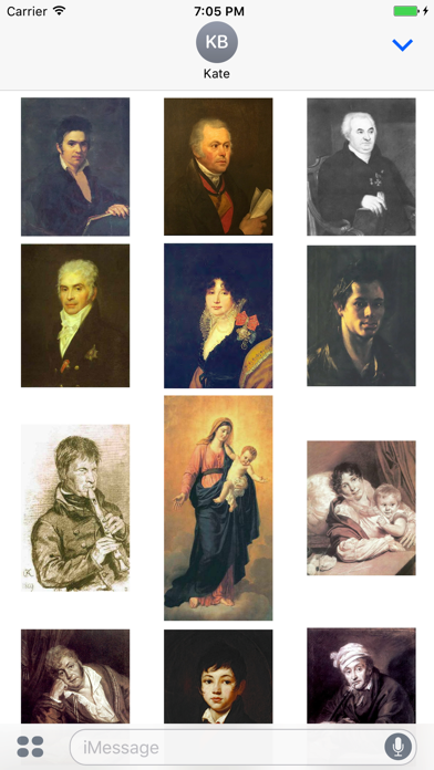 Orest Kiprensky Artworks Stickers screenshot two
