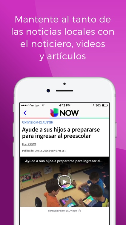 Univision NOW – Stream TV en Vivo y On Demand screenshot-3