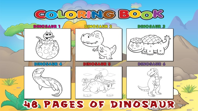 Dinosaur Coloring Book Free Pages For Toddler Kids On The App Store