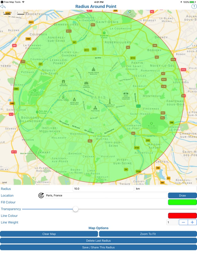 Free Map Tools on the App Store  Mile Radius Map on custom radius map, 400 miles by 300 miles map, radius point on a map, printable radius map, google maps radius tool map,