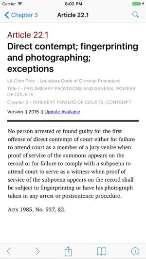 Louisiana Code of Criminal Procedure (LawStack) on the App Store