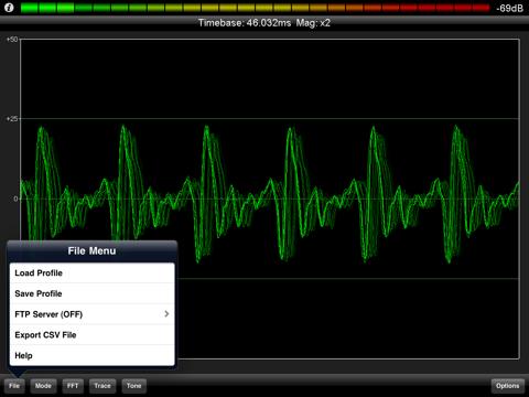 PocketRTA HD - Spectrum Analyzer screenshot 3