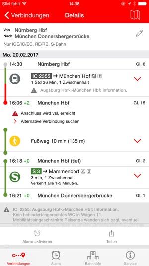 DB Streckenagent Screenshot