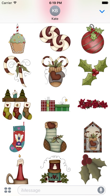 Christmas Stickers #4 for iMessage