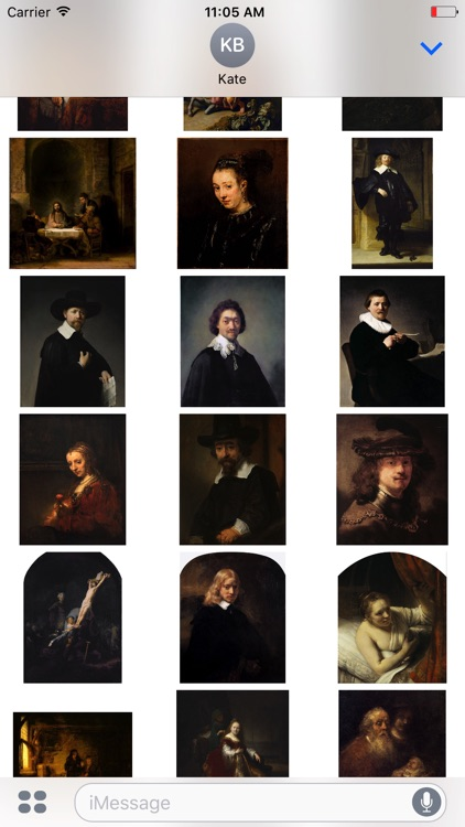 Rembrandt Stickers for iMessage