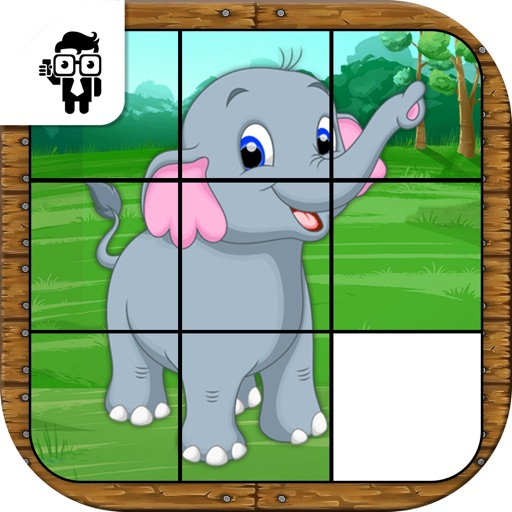 Animal Slide Puzzle Kids Game