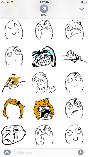 Rage comics stickers on the app store