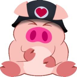 Cute Piggy Commando (Animated) stickers