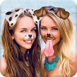 Faceu stickers - funny filters Dog face and Emoji