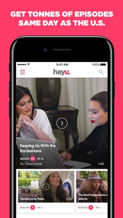 hayu - reality TV shows on demand & celebrity news screenshot-0