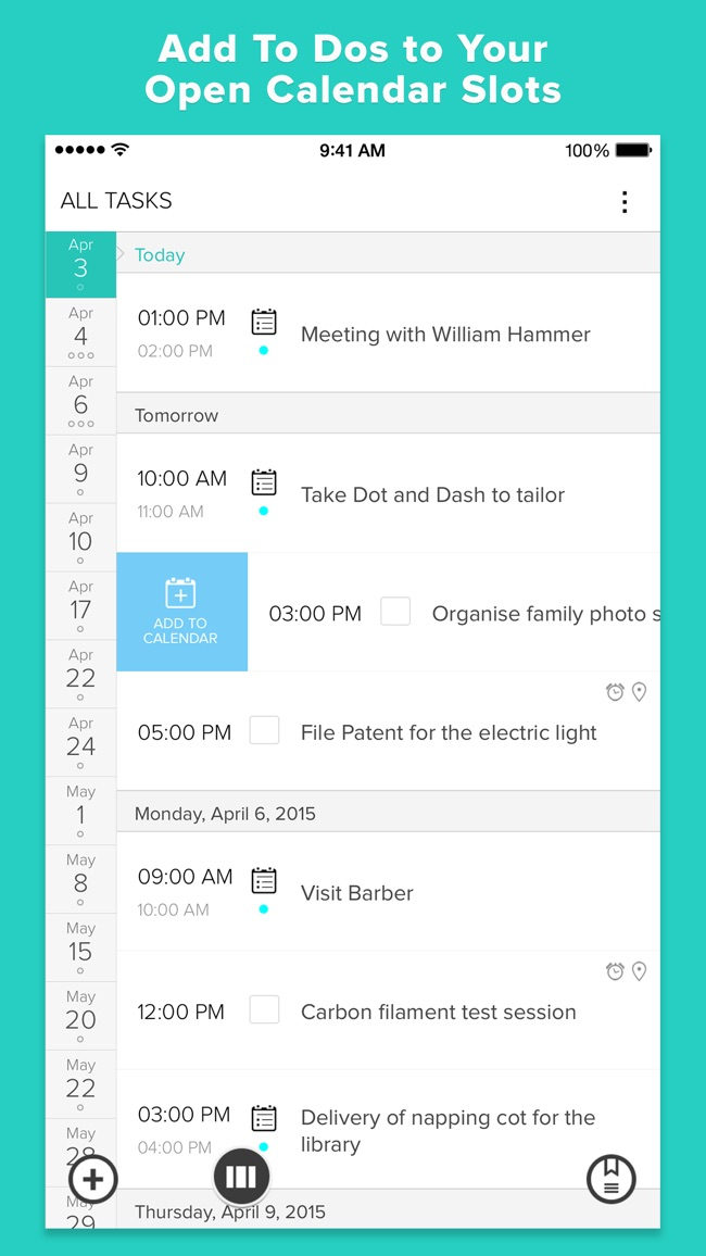 Gneo:  To Do Task List and Calendar Manager Screenshot