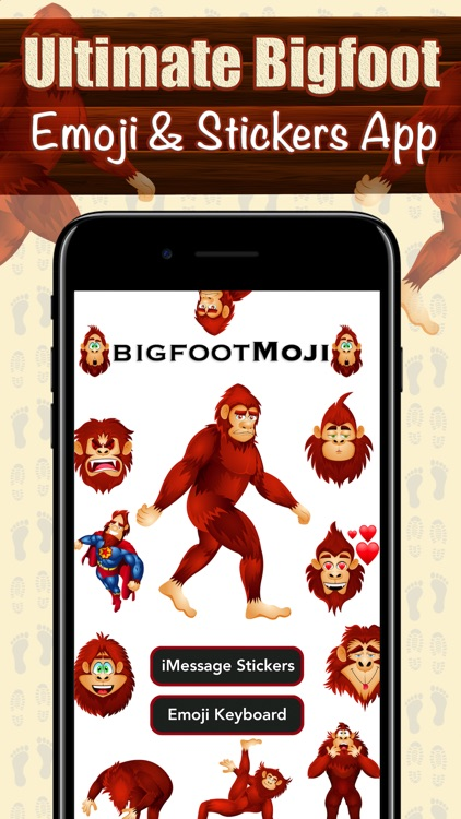BigfootMoji – Crazy Sasquatch & Bigfoot Emojis