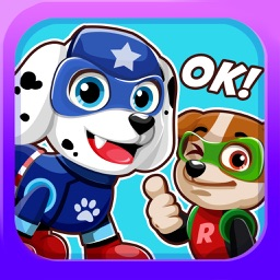 Super-Hero Pups Emoji- Sticker Patrol App