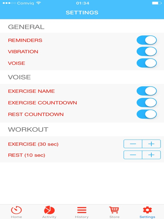 Quick workout - shape you up! screenshot 8