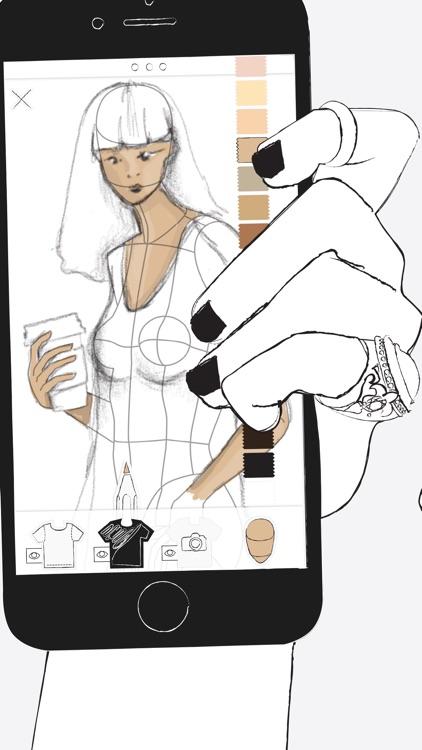 Prêt à Template - Fashion Drawing screenshot-0