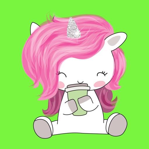 Cute Unicorn Stickers & Emoji Keyboard