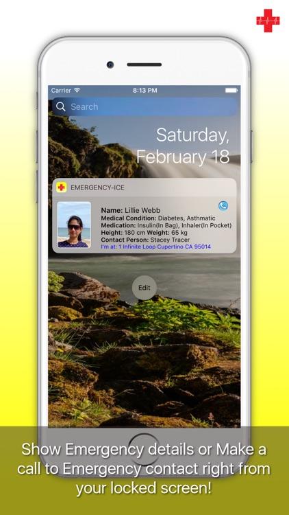 Emergency-ICE: Medical ID, Alarm, SMS, Location screenshot-4