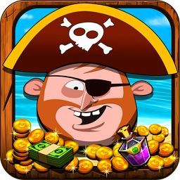 《海盗金币船》益智休闲的推金币和老虎机游戏