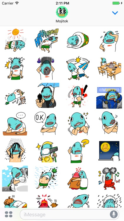 Carp head Kim boong uh! Stickers