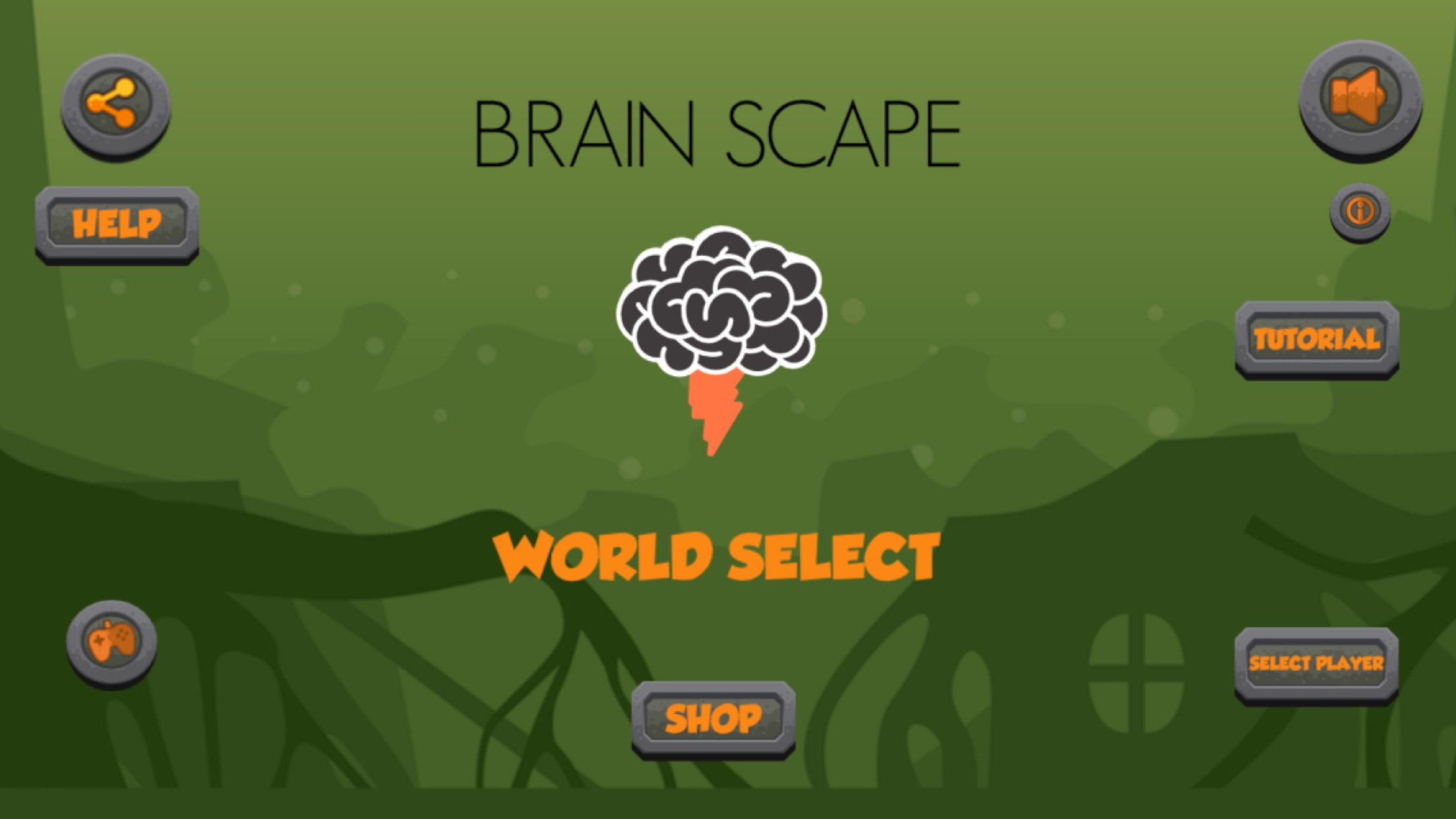 Screenshot do app Brain Scape