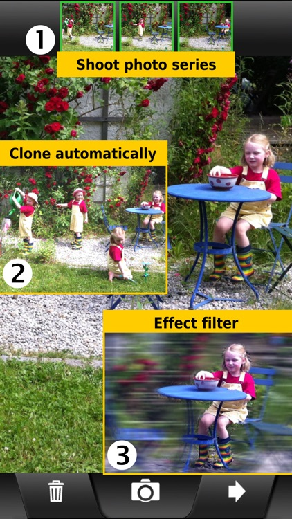 ClonErase Camera - automatic photo manipulation