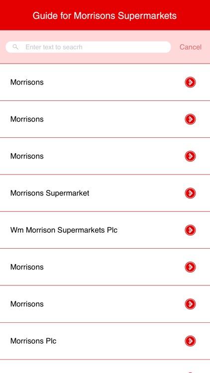 Guide for Morrisons Supermarkets