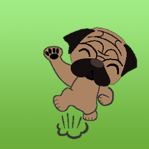 Animated Pug Puppy Sticker pack