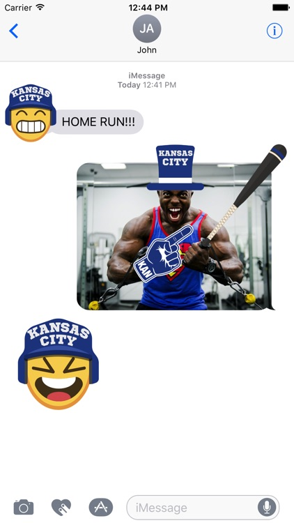 Kansas City Baseball Stickers & Emojis