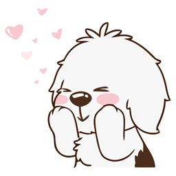 Beautiful Dog Animated Emoji Stickers