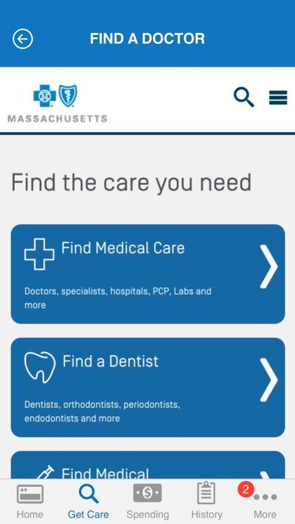 Blue Cross Blue Shield of MA MyBlue Member App screenshot-4