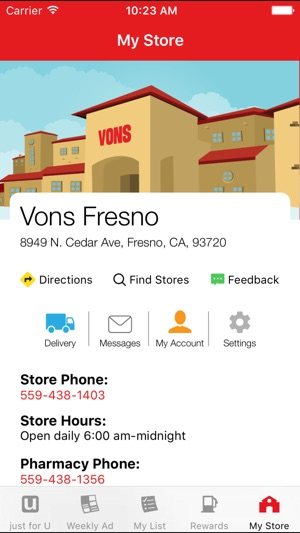 vons on the app store