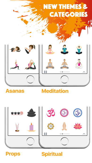 YOGAMOJI - Yoga Emojis & Stickers Keyboard screenshot three