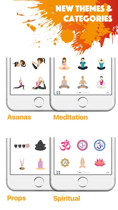 YOGAMOJI - Yoga Emojis & Stickers Keyboard screenshot three